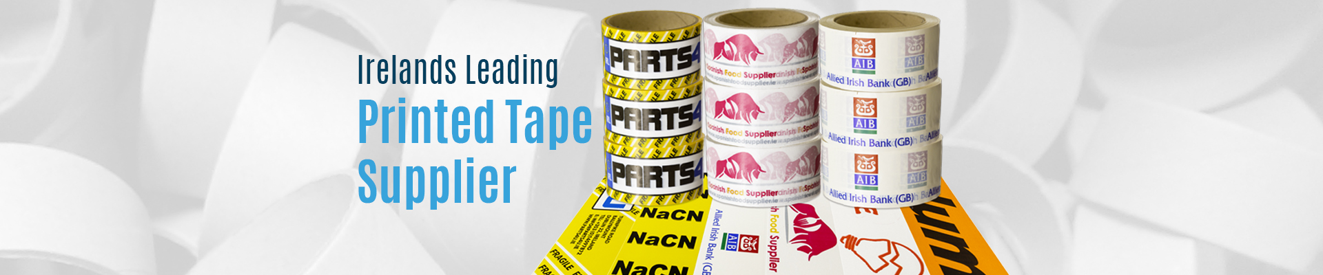 Custom Printed tape, Ireland's Leading Printed Tape Supplier